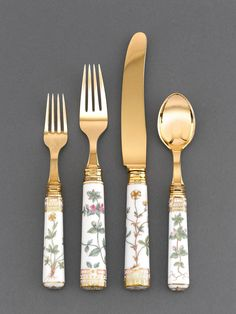 70pc set of 23 24k gold plated bestecke solingen flatware. Black Bedroom Furniture Sets. Home Design Ideas