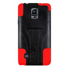 Insten Dual Layer Hybrid Stand Rubberized Hard PC/ Silicone Phone Case Cover For Samsung Galaxy Note 4 #1980571