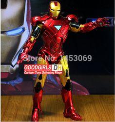 Retail Wholesale Marvel Iron Man 3 Action Figure Superhero Iron Man Tonny Mark 42 PVC Figure Toy 20cm Chritmas Gift