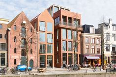 Hoge der A, Groningen Commercial Street, Railway Museum, Industrial Style, San Francisco Skyline, Modern Architecture, Townhouse, Multi Story Building, Street View, Exterior