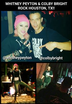 Listed image upload, .@WHITNEYPEYTON AND @COLBYBRIGHT ROCK HOUSTON, TX AT WALTER'S DOWNTOWN on ViExtreme Houston Tx, Rock, Music, Movies, Movie Posters, Pictures, Image, Musica, 2016 Movies