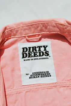 Design and Branding: Dirty Deeds Fashion Tag, Fashion Labels, Fast Fashion, Slow Fashion, Hijab Fashion, Moving On Quotes Letting Go, Fashion Graphic Design, Marca Personal, Fashion Branding