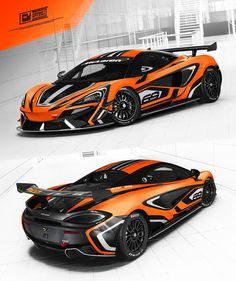 """💥McLaren 570s GT4 - """"Livery style graphics"""" design project.  Wrap b Racing Car Design, Cool Lettering, Racing Stripes, Car Tuning, Car Painting, Car Wrap, Car Brands, Car Stickers, Art Cars"""
