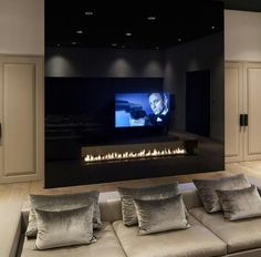15 Interior Design Ideas of Luxury Living Rooms Living Room Designs, Living Room Decor, Dining Room, Masculine Living Rooms, Style At Home, Fireplace Design, Tv Fireplace, Fireplaces, Home Fashion
