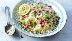 Lemon and pomegranate couscous from BBC Food by Rachel Allen