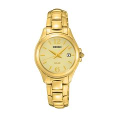 Seiko: Women's Round Dial 26mm Two-Tone Wrist Watch Stainless Steel SUT116