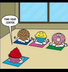 Get your laugh on to Outrageously Funny Donut Memes! Cute Puns, Funny Puns, Funny Cartoons, Funny Comics, Funny Stuff, Funny Things, Yoga Humor, Yoga Puns, Gym Humor