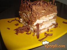 Recept za Keks tortu. Za spremanje torte neophodno je pripremiti keks, mleko, rum, maslac, šećer, čokoladu, jaja, šlag.