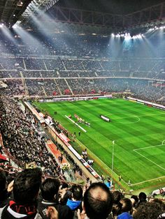Watch a game at the San Siro, Milan Soccer Stadium, Football Stadiums, Football Soccer, Football Is Life, Retro Football, Stadium Architecture, Most Popular Sports, Soccer Kits, Football Pictures