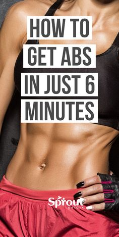 Are you struggling to lose weight and get a six pack? Here's how to get abs In Just 6 Minutes a day with these simple ab workouts. Best Weight Loss Plan, Weight Loss Transformation, Weight Loss Program, Weight Loss Tips, Easy Ab Workout, Six Pack Abs Workout, Ab Workouts, Belly Fat Loss, Lose Belly Fat