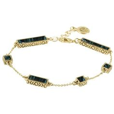 House of Harlow 1960 The Long Rains Station Bracelet ($64) ❤ liked on Polyvore featuring jewelry, bracelets, malachite, resin bangle, long jewelry, gold tone bracelet, gold tone jewelry and house of harlow 1960