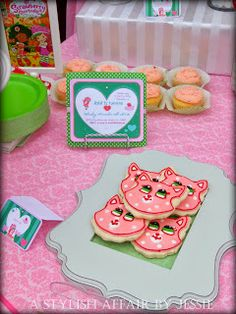A Stylish Affair by Jessie strawberry shortcake party/ custard cookies/ strawberry party