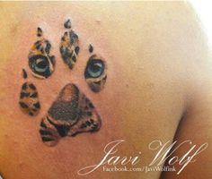 Leopard paw tattoo by javi wolf