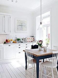 Wonderful 33 Rustic Scandinavian Kitchen Designs With White Wall Table Cabinet Sink Storage Window