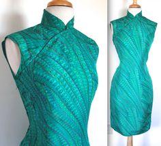 Jahrgang der 1960er Jahre Cheongsam Kleid / / von TrueValueVintage