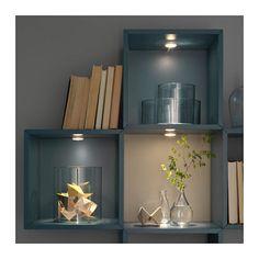 IKEA-LEDBERG-LED-Spotlight-White-3-Pack-802-988-22 Led Puck Lights, Bed Lights, Led Under Cabinet Lighting, Home Decor Baskets, My New Room, Decor Interior Design, Incandescent Bulbs, White White, Closets