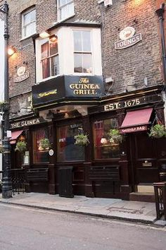 The Guinea Pub, Bruton Place, Mayfair, London is a Mayfair institution; there has been an Inn on this site since 1423. The present Guinea Grill opened in 1952 and we specialise in serving dry aged, grass fed Scotch Beef.