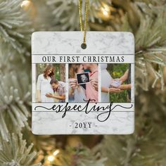 4 Photo Pregnancy New Parents 1st Xmas Expecting Ceramic Ornament - tap, personalize, buy right now! #CeramicOrnament #new #parents, #baby, #pregnancy #announcements, Best Christmas Gifts, First Christmas, Christmas Cards, Xmas, Christmas Ornaments, Christmas Ideas, Holiday Fun, Christmas Decorations, Holiday Decor
