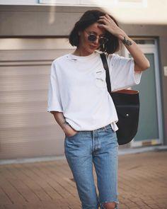 White Tee | Good Denim #streetstyle
