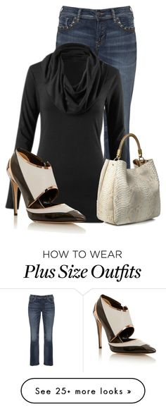 """""""Untitled #13305"""" by nanette-253 on Polyvore featuring Silver Jeans Co., CAbi, Yves Saint Laurent and Prabal Gurung"""