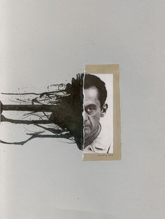 Man Ray 1947, collage with ink by Richard Vergez