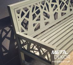 'Geometric Forest' Laser cut outdoor bench – 'Geometrik Ağaçlar' Lazer Kesim Bank