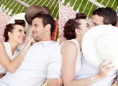 what a beautiful couple and am so in love with their retro style engagement shoot!!!