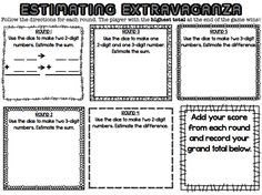 Third Grade in the First State: Estimating Sums and Differences Resource