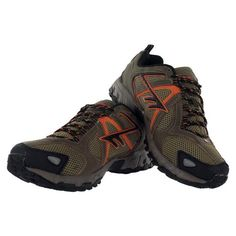 04/14/2012 $34.99 Hi-Tec Berkeley Trail Running Shoes    Academy Sports + Outdoors 0032  21351 Gulf Freeway    Webster, TX  77598  (281) 557-5900    I bought these shoes in the Men's Hiking Shoe section. I wear them while walking my dogs on the nature trails at Challenger 7 Park.  They fit me better with Thorlo Hiking socks than they do with my Thorlo running socks because the hiking socks are thicker.  Unfortunately, the soles started to delaminate 10/14/2012. :-(  I do not recommend these.