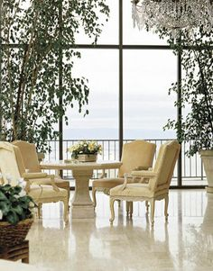 Michael Taylor. Stunning dining space. What a view!