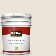 BEHR Premium Plus 5-gal. #N300-1 Sail Cloth Flat Interior Paint