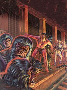 Planet of the Apes comic magazine, issue 3 cover art