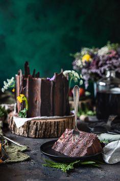Schoko-Pflaume Torte im Baumstamm-Look zum 4. Hochzeitstag – Culirena