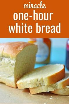 to make homemade white bread in one hour. Quick and easy white bread recipe. How to make homemade white bread in one hour. Quick and easy white bread recipe. Homemade Sandwich Bread, Sandwich Bread Recipes, Yeast Bread Recipes, Loaf Recipes, Quick Bread Recipes, Cooking Recipes, One Loaf Bread Recipe, Bread Food, Quick And Easy Recipes