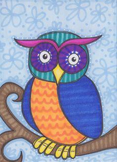 'Whimsical Owl' by Beth Belmondo