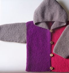 multiple colored hooded cardigan