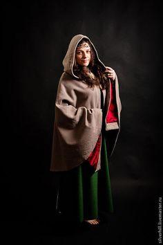 """Handmade cloak / Верхняя одежда ручной работы. Ярмарка Мастеров - ручная работа. Купить Плащ """"Городская Осень"""". Handmade. Бежевый, теплый, уютный"""