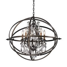 Buy the Troy Lighting Vintage Bronze Direct. Shop for the Troy Lighting Vintage Bronze Byron 5 Light Globe Chandelier with Crystal Accents and save. Bronze Chandelier, Globe Chandelier, 5 Light Chandelier, Chandelier Shades, Vintage Chandelier, Pendant Lighting, Light Pendant, Iron Ring, Troy Lighting