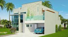 Resultado de imagem para modelos de fachadas de casas elegantes com garagem lateral