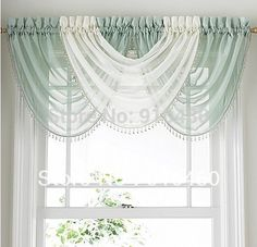Cordón de lujo cortina escarpada cenefa cortina cascada cenefa con bolas hermosa cenefa envío gratuito