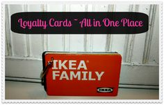 Great tip for keeping loyalty cards together!