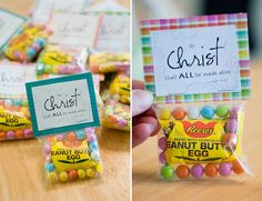 @Mary Powers Powers Powers Spraggins this would be cute for your Sunday school class!  Easter treats