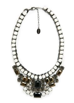 Piece and crystal necklace MANGO