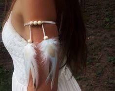 Echte veren Armband Native American stijl door WildandFreePeople