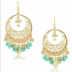 Golden Elephant Earrings Brand New #E103 Jewelry Earrings