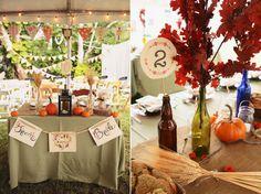Backyard Fall Wedding: Katie and Jonathan