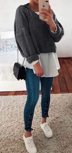 The world view looks good - Spring Outfits Casual Winter Outfits, Stylish Outfits, Spring Outfits, Fashion Outfits, Fashion 2016, Fashion Women, Pretty Outfits, Beautiful Outfits, Cute Outfits