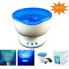 Ocean Sea Waves LED Night Light Projector Speaker Lamp,Christmas gift Free shipping 1Pcs