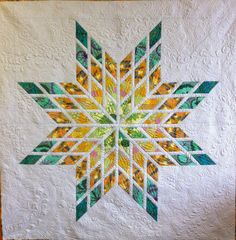 I have always been fascinated with the Lone Star quilt. My first child's baby quilt was a Lone Star. Back in the dark ages the fabric was . Lone Star Quilt Pattern, Star Quilt Blocks, Star Quilt Patterns, Star Quilts, Quilting Projects, Quilting Designs, Quilting Ideas, Bright Quilts, Star Blanket