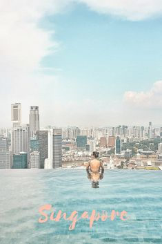In love with Singapore. This is the top of Marina bay by the Sands. #pool #poolgoals #singapore #luxuryhotels